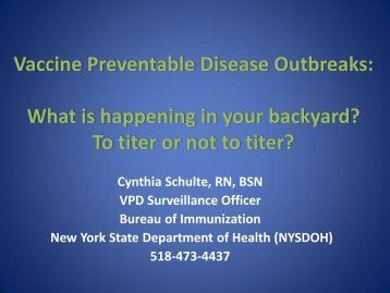 Vaccine Preventable Disease Outbreaks: What is ... - Erie County