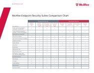 McAfee Endpoint Security Suites Comparison Chart - Arrow ECS