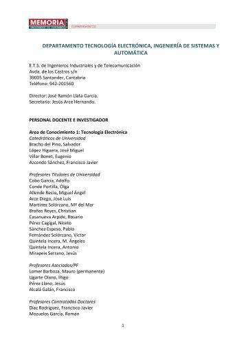 Tecnología Electrónica, Ingeniería de Sistemas y Automática