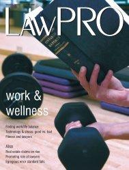 work & wellness - practicePRO.ca
