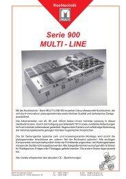 Serie 900 MULTI - LINE - MULTI Großküchen GmbH