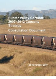 2007-2012 Hunter Valley Strategy - Consultation Document - ARTC