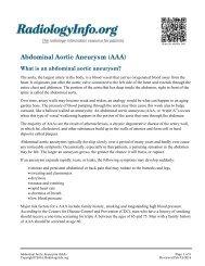 Abdominal Aortic Aneurysm (AAA) - RadiologyInfo