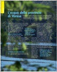 L'acqua della provincia di Varese - Unione degli Industriali della ...