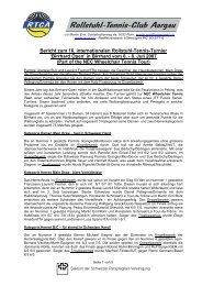 Schlussbericht Birrhard Open 2007 - RTCA