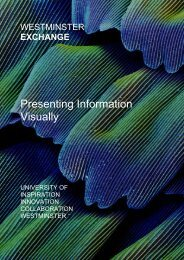 Presenting Information Visually - University of Westminster