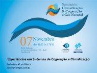 Experiências em Sistemas de Cogeração e Climatização - Cogen