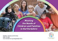 Meeting the Needs of Children and Families in Hertfordshire