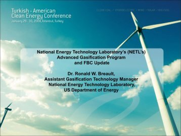 National Energy Technology Laboratory's (NETL's) Advanced ...