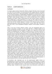 TEMA 8: EGIPTO ROMANO Las fuentes Las fuentes clásicas ...