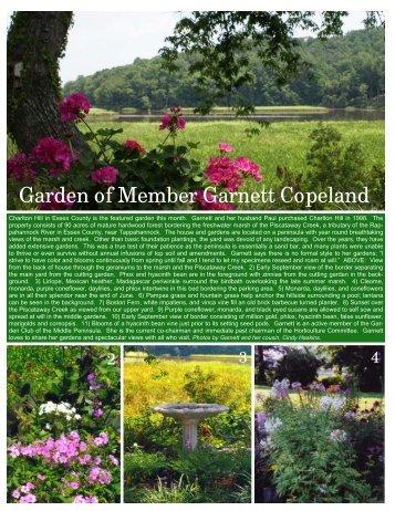 Garnet Copeland Garden of the Month - Garden Club of Virginia