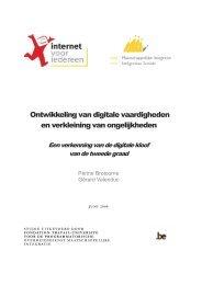 Ontwikkeling van digitale vaardigheden en verkleining van ...