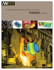 Engineering Simulation Solutions for the Metals Industry