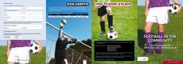 Football in the community - Scottish Football Association