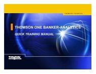 thomson one banker-analytics quick training manual