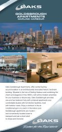 GOLDSBROUGH APARTMENTS - Oaks Hotels & Resorts