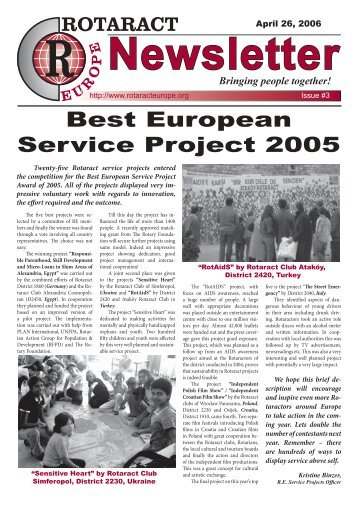 Newsletter No.03 – May 2006 - ERIC