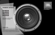 Owners Manual - JBL.com