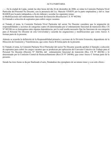 Concurso Cargos No Docentes Vacantes - Universidad Nacional de ...