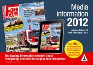 Media information - Feuerwehr-Magazin