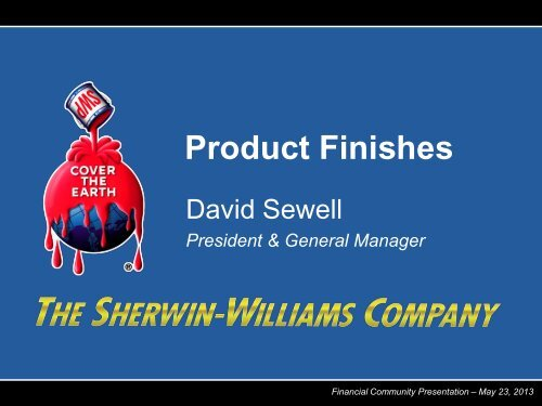 Product Finishes