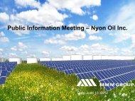 Public Information Meeting – Nyon Oil Inc. - City of Port Colborne