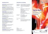 Flyer zum Tag der Musik