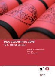 Programm-Broschüre - Dies academicus - Universität Bern