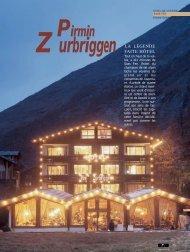 P. Zurbriggen - Magazine Sports et Loisirs