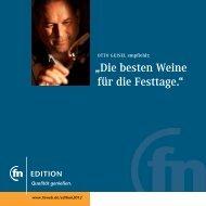 """""""Die besten Weine für die Festtage."""" - Otto Geisel"""