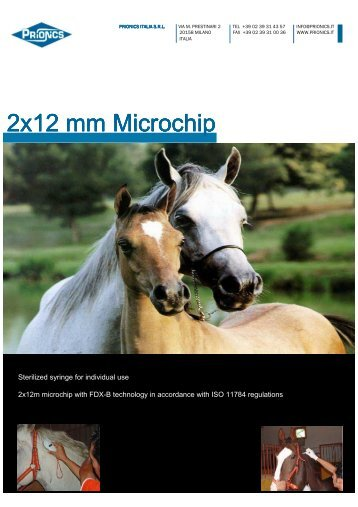 Horse Microchip nv ING - Prionics