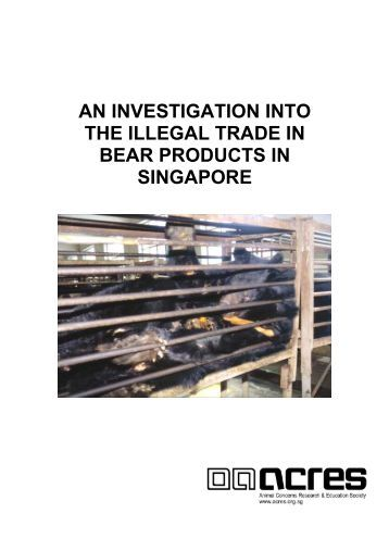 an investigation into the illegal trade in bear products in singapore