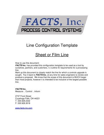 Line Configuration Template Sheet or Film Line - FACTS, Inc.