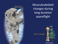 Musculoskeletal changes during long duration spaceflight