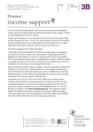 3B Finance - Seniors Information Service - NSW Government