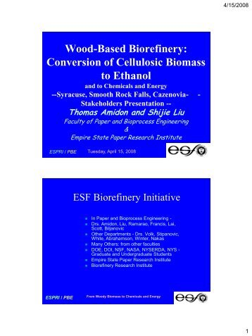Wood-Based Biorefinery: Conversion of Cellulosic Biomass to Ethanol