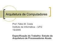 Especificação do Trabalho - Instituto de Informática - UFG