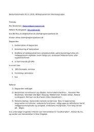 Referat af bestyrelsesmøde 10. november 2010