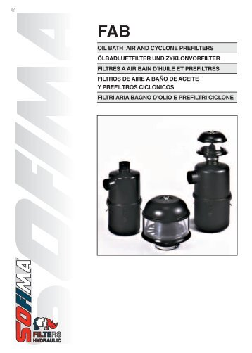 oil bath air and cyclone prefilters ölbadluftfilter und ... - Fluidtech
