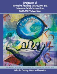 Evaluation of the Intensive Reading Instruction - TEA - Home School ...