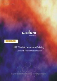 RF Test Accessories Catalog