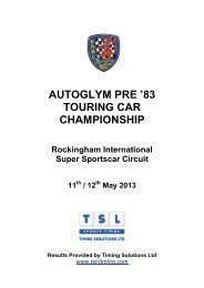 autoglym pre - Classic Touring Car Racing Club