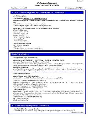 SDB Metaflux 70-28 Handschutzschaum