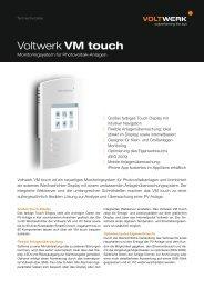 Voltwerk VM touch - Mare Solar