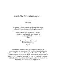 GNAT: The GNU Ada Compiler - Bad Request