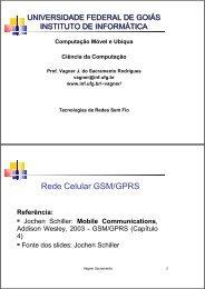 Redes GSM - Instituto de Informática - UFG