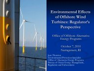 Environmental Effects of Offshore Wind Turbines: Regulator's ...