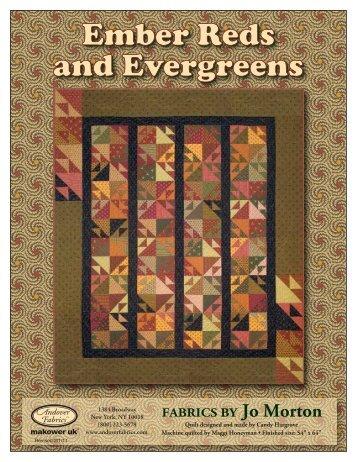 Embers Red and Eveygreen - Stitch-N-Frame