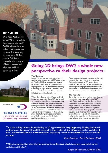 DW2 Casestudy (PDF 1641 Kb) - Cadspec