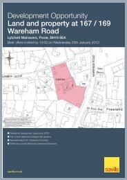 Development Opportunity Land and property at 167 / 169 ... - Savills